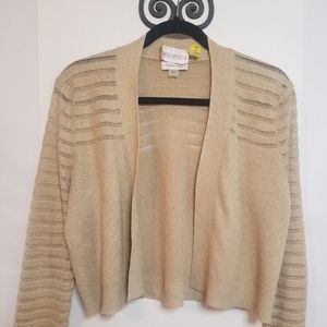 Calvin Klein NWT Gold Metallic Cropped Sweater